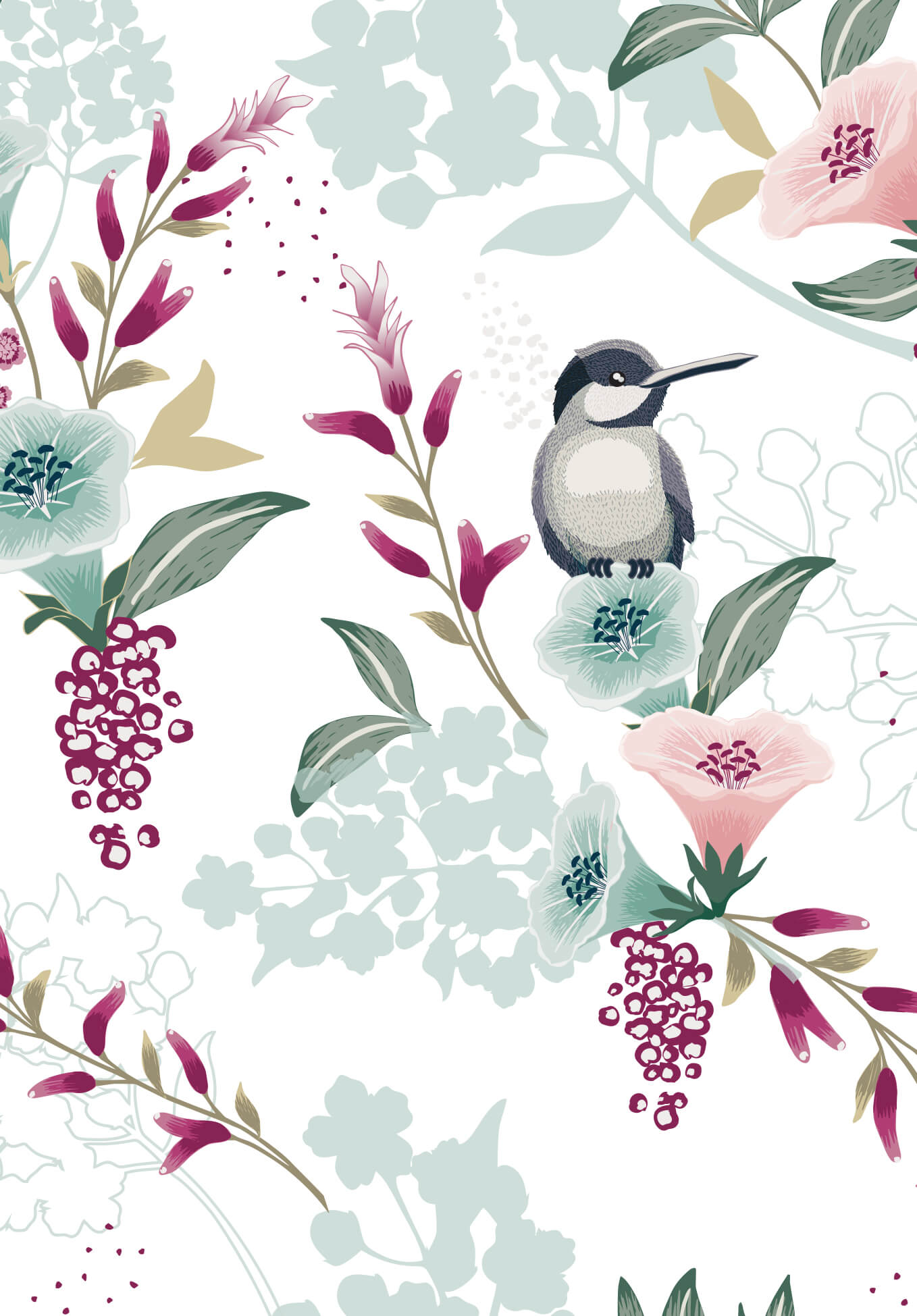 Vogel-auf-Blume